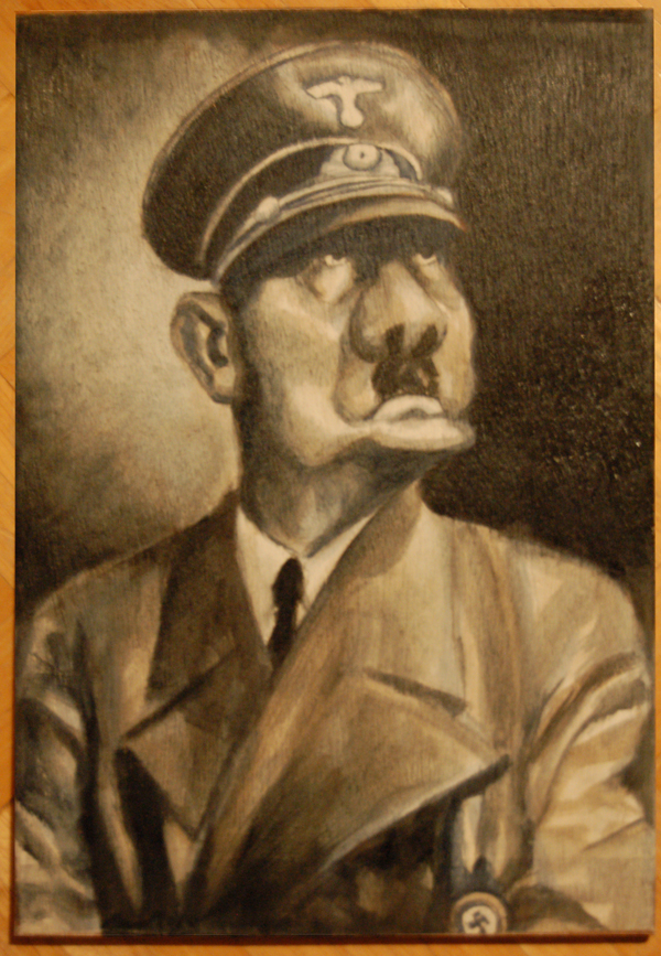 Adolf Hitler oil small for web