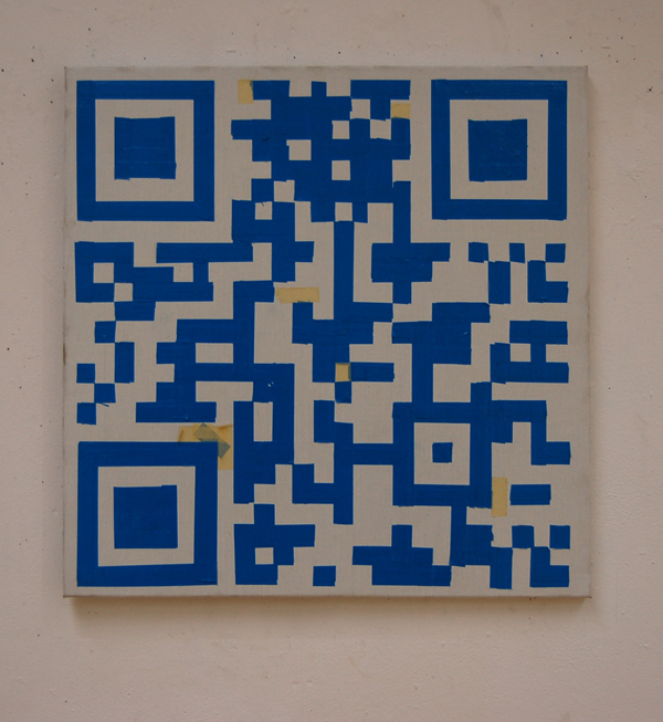 QR -Klaas Op De Beéck- tape on canvas small