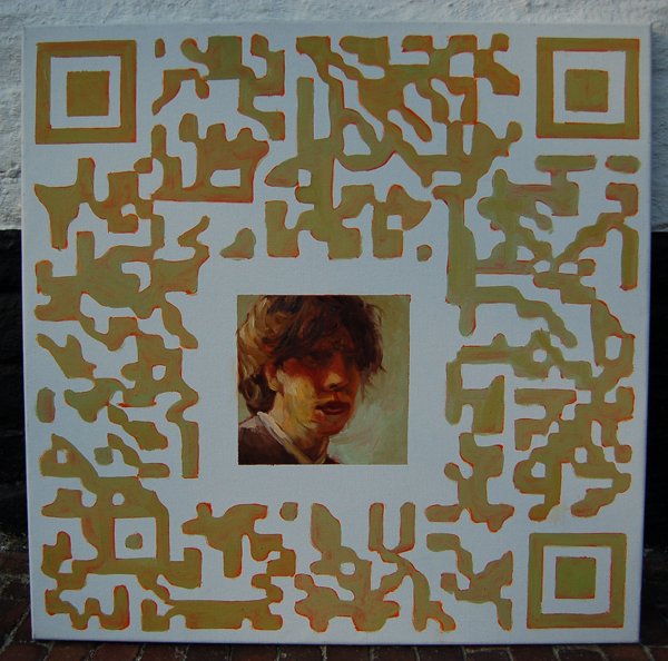 QR selfportrait after Rembrandt small